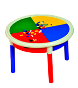 Liberty House Round 4-Drawer Lego building Activity Table