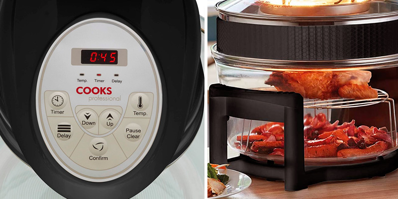 Cooks Professional 17L digital display Electric Halogen Oven with Hinged Lid in the use