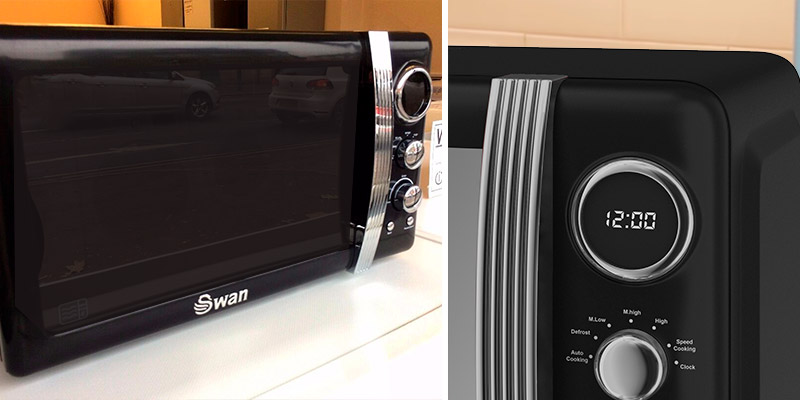 Swan SM22030BN Retro Digital Microwave in the use