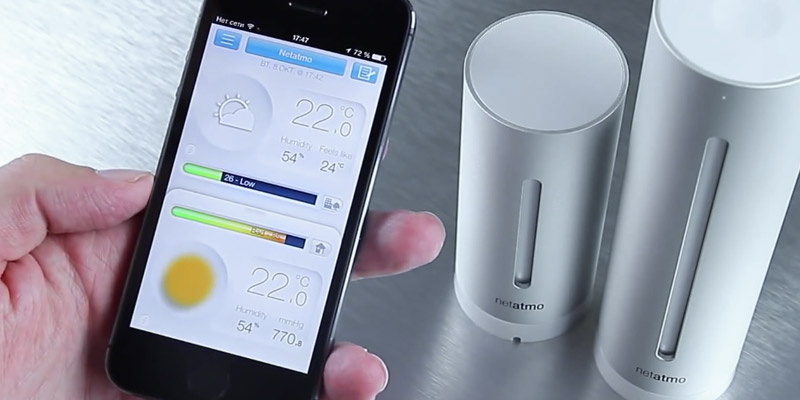 Netatmo NWS01 Weather Station for Smartphones in the use
