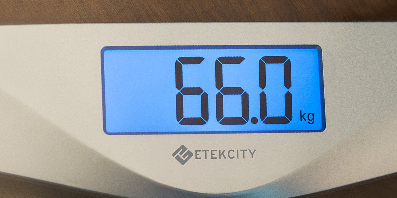 Etekcity Step-On Technology Digital Body Weighing Bathroom Scales in the use