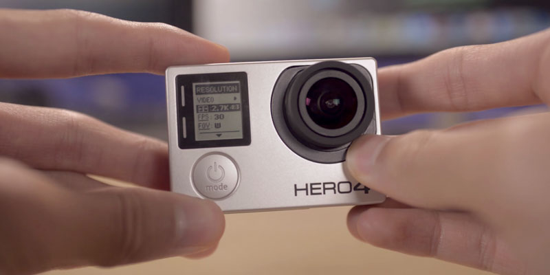 GoPro HERO4 BLACK in the use