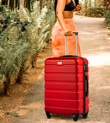 Review of Coolife Trolley Hard Shell 93L Suitcase