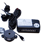 CISBO 336-4 BLACK Parking Reversing Sensor Kit with 4 Sensors and Audio Buzzer