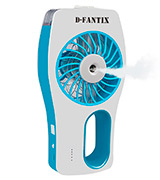 D-FantiX AMUK-HG154-BLU USB Handheld Fan Battery Operated Portable Water Misting Fan