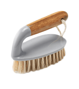 Addis Floor and Tile Scrub Brush Iron Style with Natural Bamboo Handle