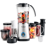 VonShef 13/124 Blender, Multifunctional Smoothie Maker, Juicer & Grinder