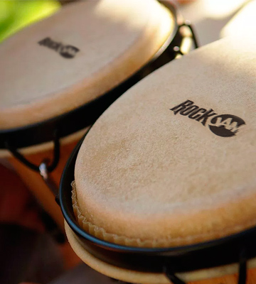 Review of RockJam 100300 7 & 8 Bongo Drum Set with Padded Bag, Natural
