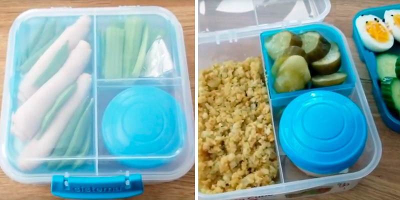 Review of Sistema Bento Cube Box to Go with Fruit/Yogurt Pot