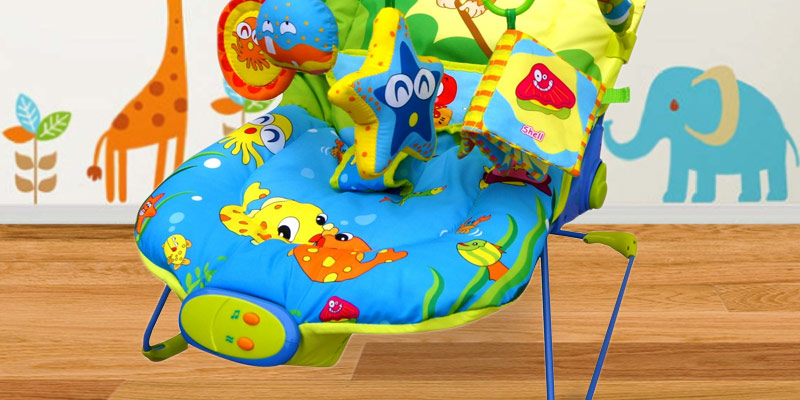 Just4baby Baby Bouncer Rocker Reclining Chair in the use