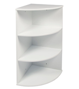 woodluv MDF 3-Tier Wall Mounted Corner Shelf Bathroom Cabinet Unit