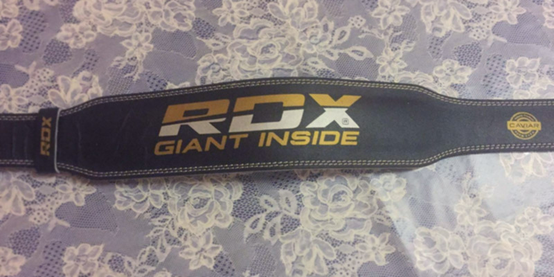Review of RDX WBS-4RB Leather Weight Lifting Belt