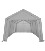 KMS FoxHunter Heavy Duty Waterproof 3m x 6m Carport Party Tent Canopy White 180g Polyester Steel Frame
