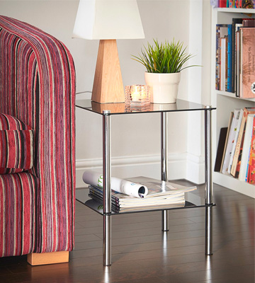 Review of VonHaus Coffee Table with Tempered Glass Shelves