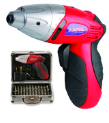 Duratool D01673 Cordless Screwdriver with Accessories