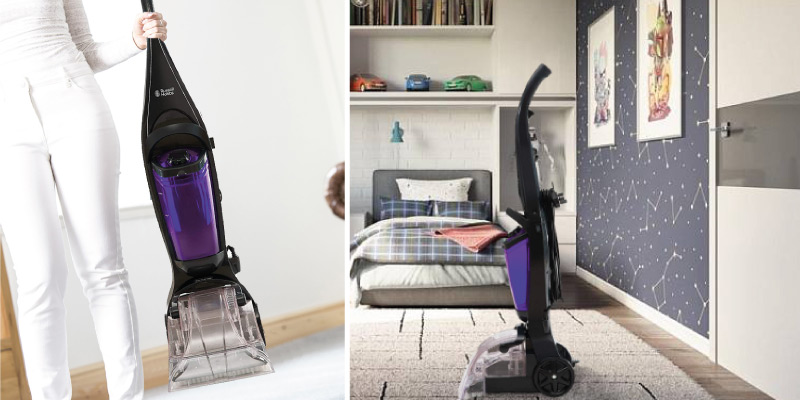 Russell Hobbs ABS/PP Gunmetal and Purple Carpet Cleaner in the use