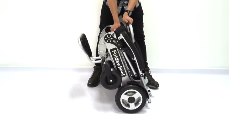 Wheelchair88 PW-1000XL Folding Electric Wheelchair in the use
