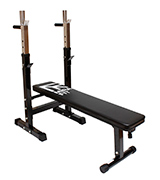 MiraFit M1 Adjustable Folding Weight Bench with Dip Station