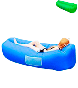 BACKTURE Inflatable Lounger Air Sofa Lazy Carry Portable Waterproof Sleeping Bag