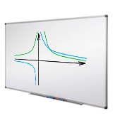 Master of Boards 4250953735900 Magnetic Whiteboard 90x60cm