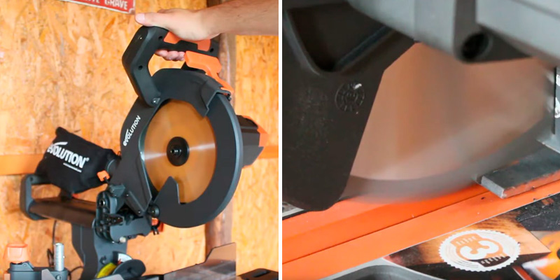 Review of Evolution Power Tools R255SMS+ Multi-Material Sliding Mitre Saw