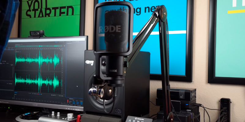 Rode NT-USB Condenser Microphone in the use