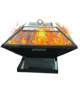 Garden Mile® Square Metal BBQ/ Fire Pit