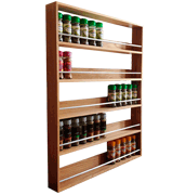 SilverAppleWood 5 Tiers 60 Jars Solid Oak Spice Rack