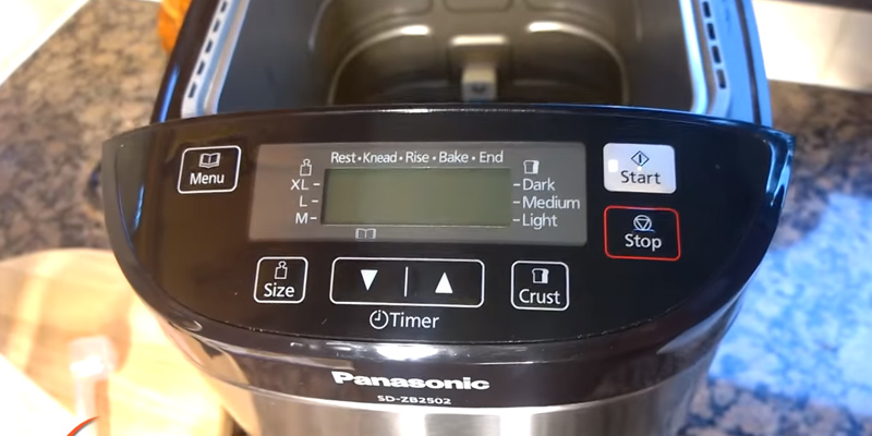 Panasonic SD-ZB2502BXC Stainless Steel Bread Maker in the use