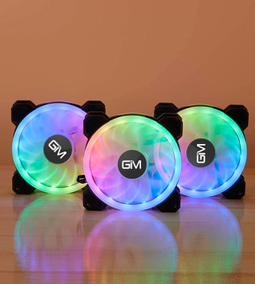 Review of ICETEK (ICE0423) 120mm RGB Case Fans (Pack of 3)