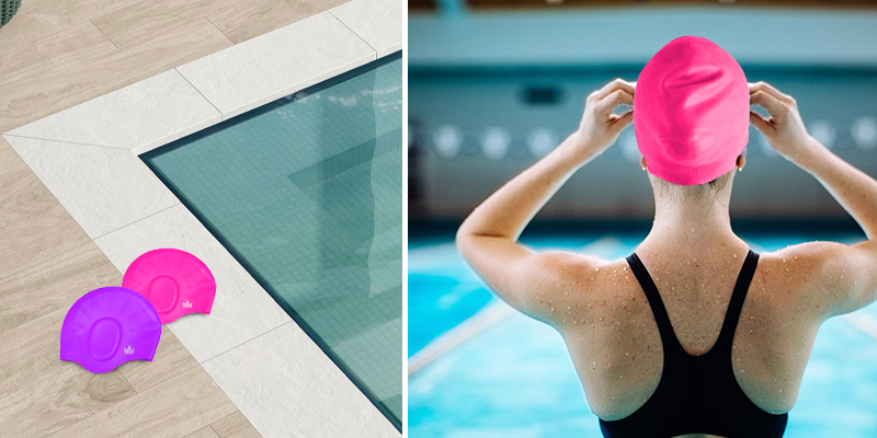 Review of The Friendly Swede Silicone Long Hair Swimming Caps with Ear Pockets