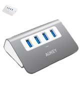 Aukey 4-Port Aluminum Superspeed USB Hub