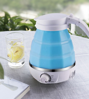 Review of LOUTYTUO Food Grade Silicone Foldable Electric Kettle with Dual Voltage