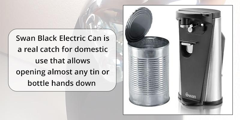 Review of Swan Black Electric Can / Tin and Bottle Opener with Knife Sharpener