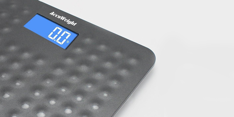 Accuweight Skidproof Digital Bathroom Scale in the use