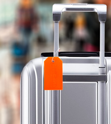 Review of CSTOM Luggage Labels 2x Large Bag Tags Suitcase Accessories - Orange
