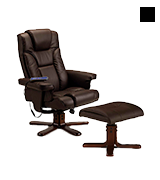 Julian Bowen Malmo Heat Massage Recliner and Footstool Chair
