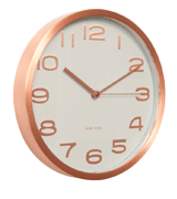 Karlsson Clock White and copper