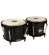 Meinl Percussion HB50BK Standard Size ABS Plastic Bongos with Natural Skin Heads