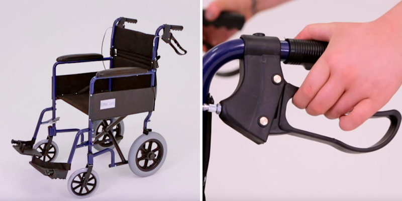 Review of Elite Care ECTR01 Folding Transit Travel Wheelchair with Handbrakes