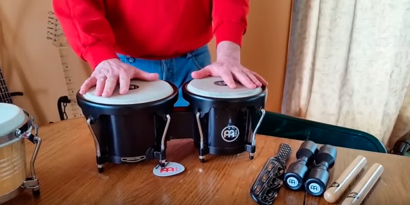 Review of Meinl Percussion HB50BK Standard Size ABS Plastic Bongos with Natural Skin Heads