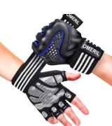 OMERIL Gym Gloves Padded Weight Lifting Gloves