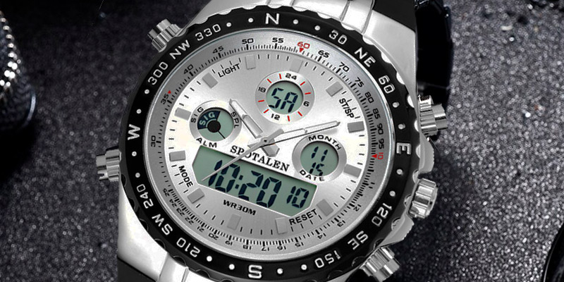 SPOTALEN Mens Digital Sports Watch Military Waterproof Analogue Watch in the use