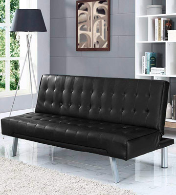 Review of Home Detail Faux Leather Wood Sofa Bed
