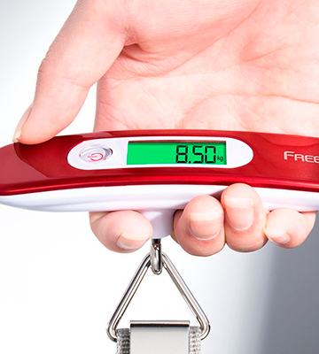 Review of FREETOO Portable Digital Luggage Scale 110 lb/ 50KG Capacity Red with Tare Function