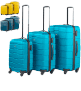"VonHaus 21/25/29"" Luggage Set of 3 ABS Lightweight Hard Shell Teal Suitcase"