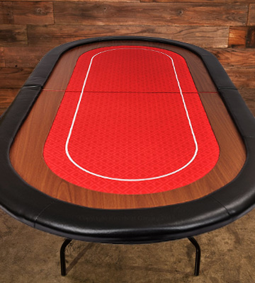 Review of Riverboat Gaming RT100RED Champion Folding Poker Table Top in Red Speed Cloth and Faux Leather Armrest 180cm