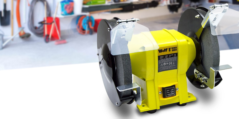 "Review of Wolf 350W 8"" Bench Grinder"