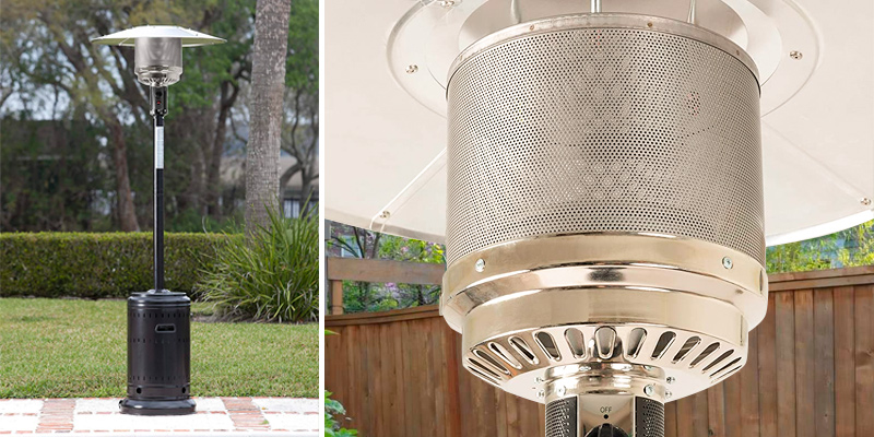 AmazonBasics 61826 Commercial Patio Heater in the use