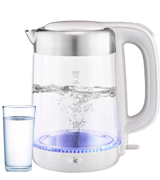 IKICH 1.7L Cordless Eco Glass Electric Kettle